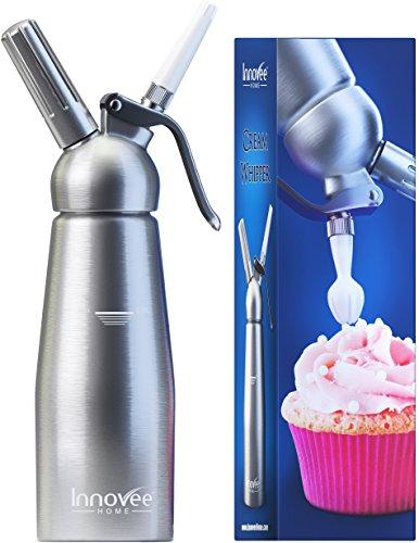 Innovee-Cream-Whipper-Siphon–crme-fouette-professionnel-en-aluminium-05-Litre-avec-3-douilles-dcoratives-Fonctionne-avec-des-cartouches-universelles-N20-non-fournies-0