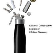 Animato-Siphon-professionnel-500-ml-en-aluminium-pour-crme-fouette-avec-douilles-en-acier-inoxydable-argent-et-noir-e-book-de-recettes-offert-brosses-de-nettoyage-garanti--vie-0-0